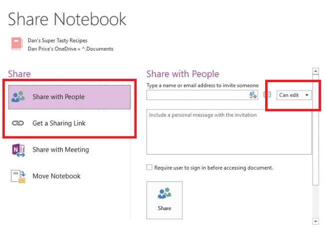 onenote-share-notebook
